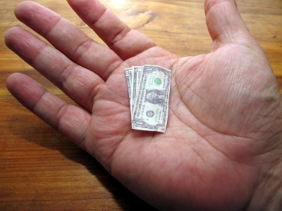 小銭 1ドル札
