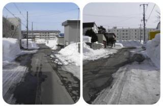 雪解け道路1