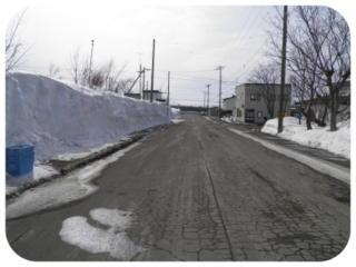 雪解け道路2