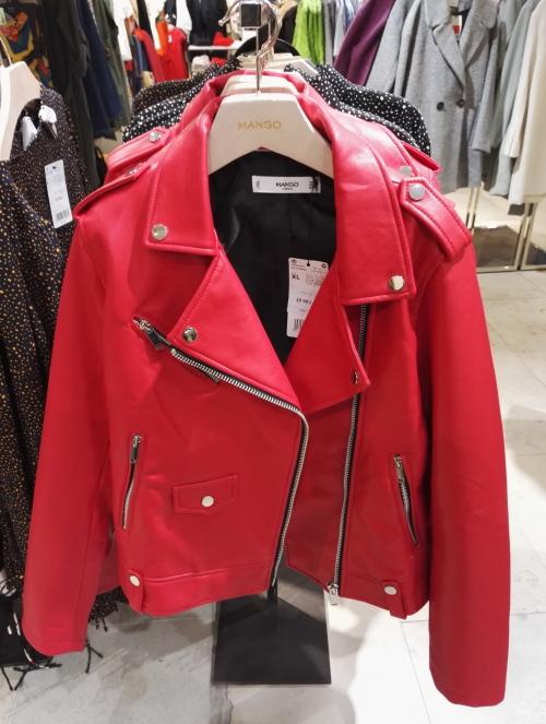 フィンランド 赤 皮ジャケット