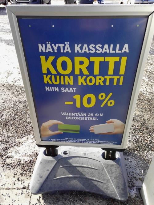 フィンランド ドイツスーパー Lidl カードみせて割引キャンペーン