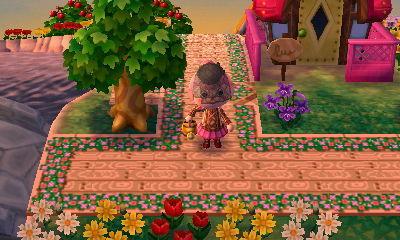 木目と草花例