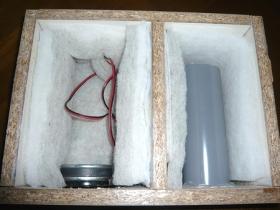 自作ダブルバスレフ型スピーカー 吸音材