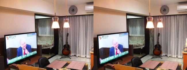 硝子の城 リビングルーム③(交差法)