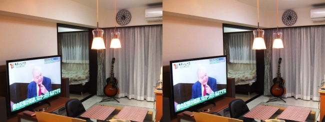 硝子の城 リビングルーム③(平行法)