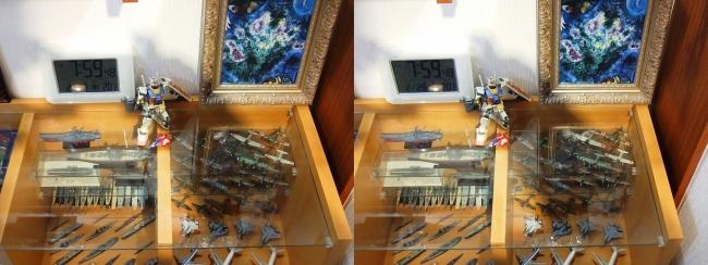 硝子の城 リビングルーム ガラスチェスト③(平行法)