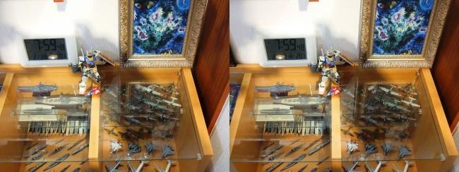 硝子の城 リビングルーム ガラスチェスト③(交差法)