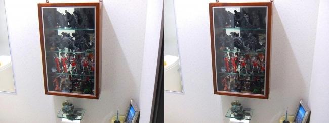 硝子の城 トイレ 昭和ヒーロー館①(交差法)