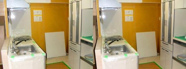 硝子の城 リフォーム キッチン(交差法)
