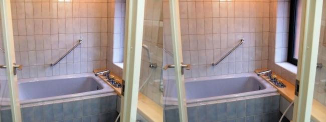 硝子の城 オープンハウス バスルーム(交差法)