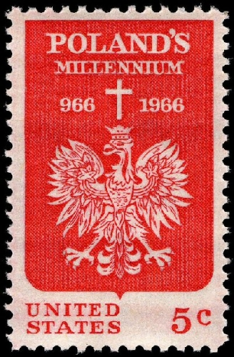 03b 400 Polish Millennium stamp