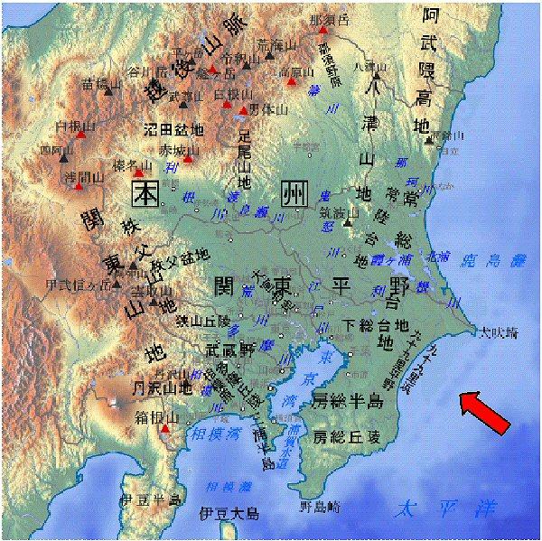 06 600 関東地方map九十九里浜
