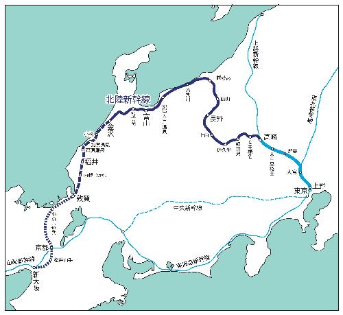 02b 500 map 北陸新幹線