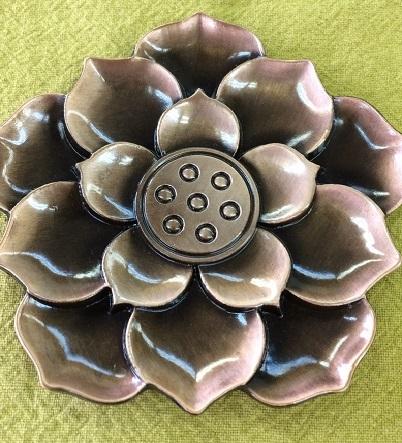 金属茶托(連花)