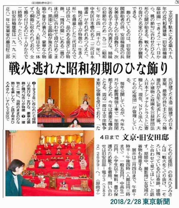 雛 20180228東京 安田邸