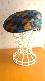 アーガイル柄のハンチング帽