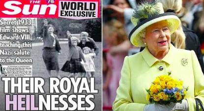 エリザベス女王のナチス敬礼