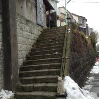 雪の残るギャラリー猫町