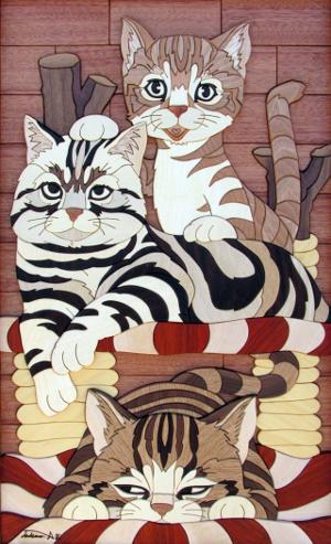 あさのたかを 木壁画とタイルアートの世界 Bunkamura Box Gallery