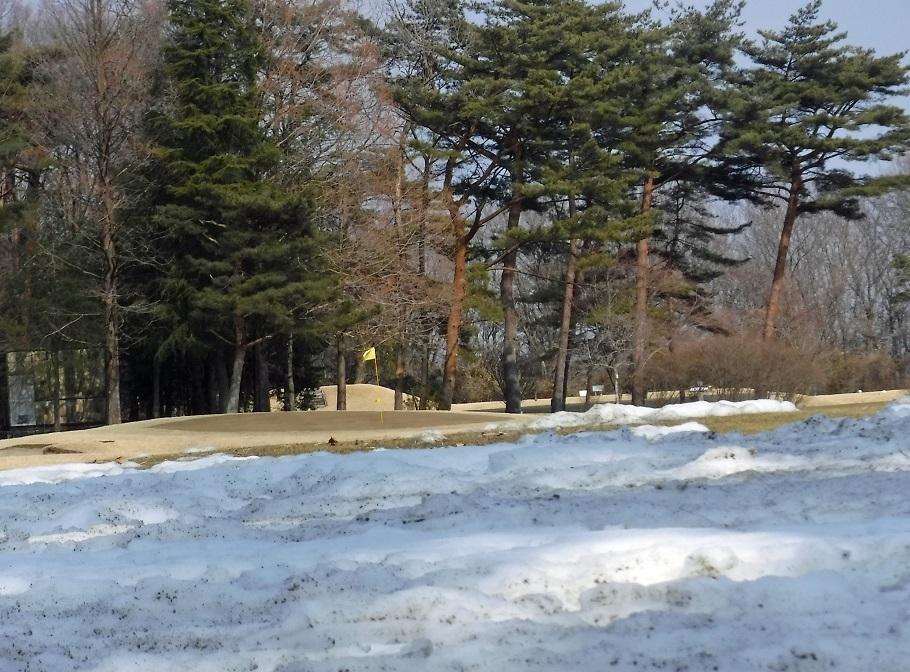 ブログ ゴルフ場には雪が残ってるね.jpg