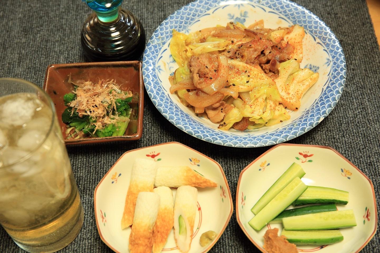 ブログ 少し手抜きの夕食.jpg