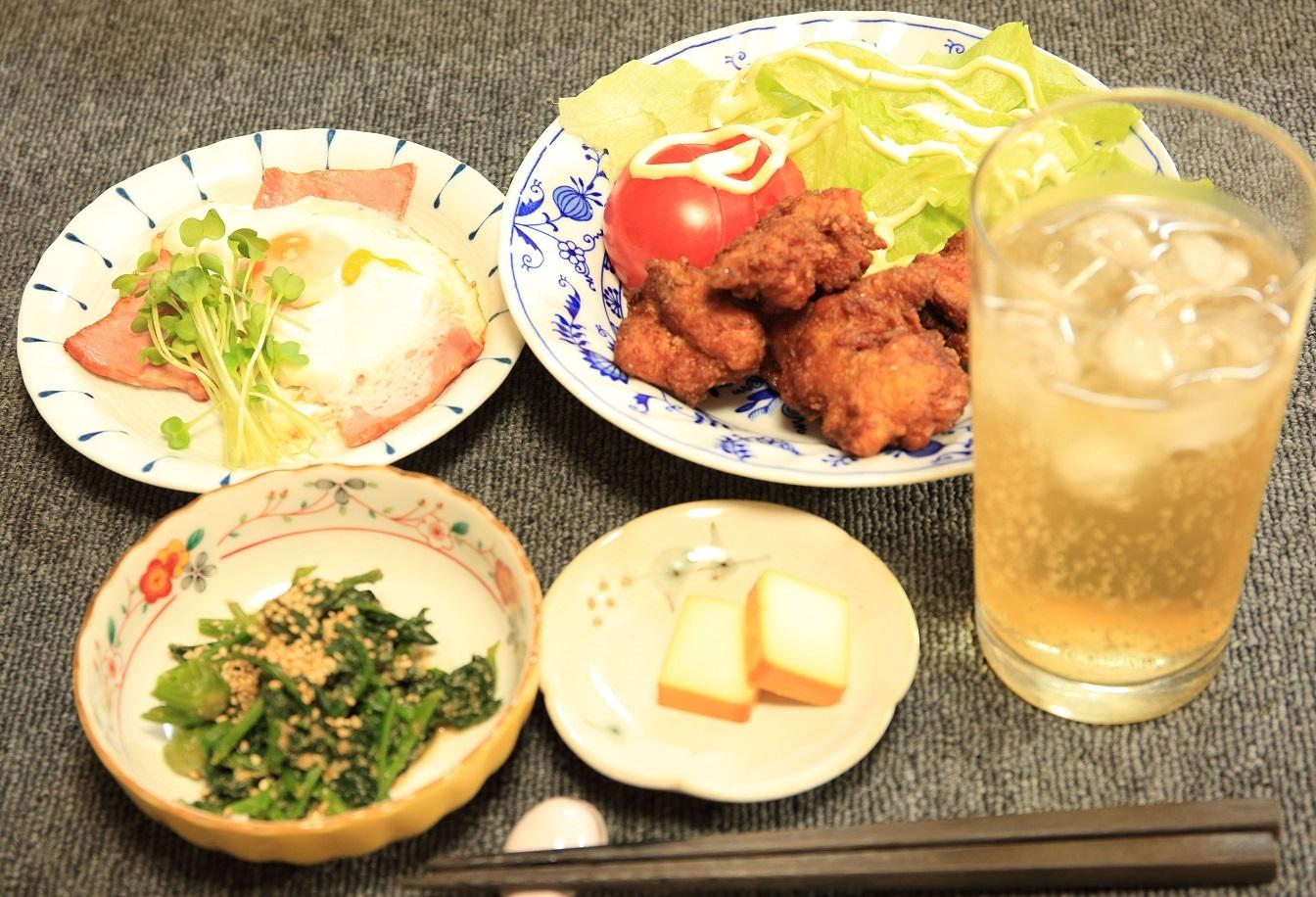 ブログ  4 02 唐揚げの夕食.jpg