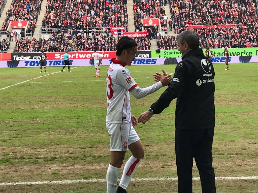 Dusseldorf 2-0 StPauli - Takashi Usami