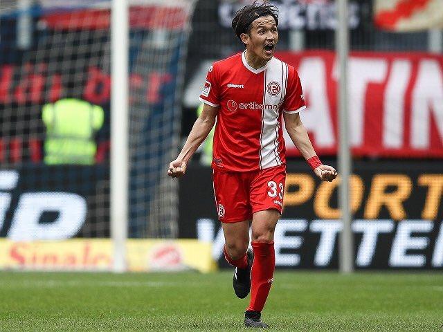 usami goal against Duisburg 0-2 Dusseldorf