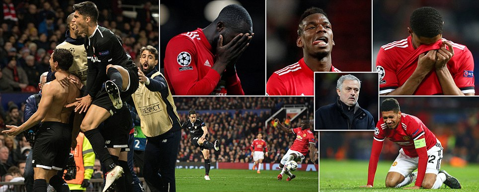 Dismal United dumped out of the Champions League Sevilla super sub Ben Yedder scores twice to punish Mourinhos negative tactics