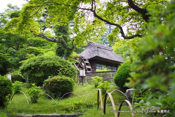 富士屋ホテル 庭園 水車小屋