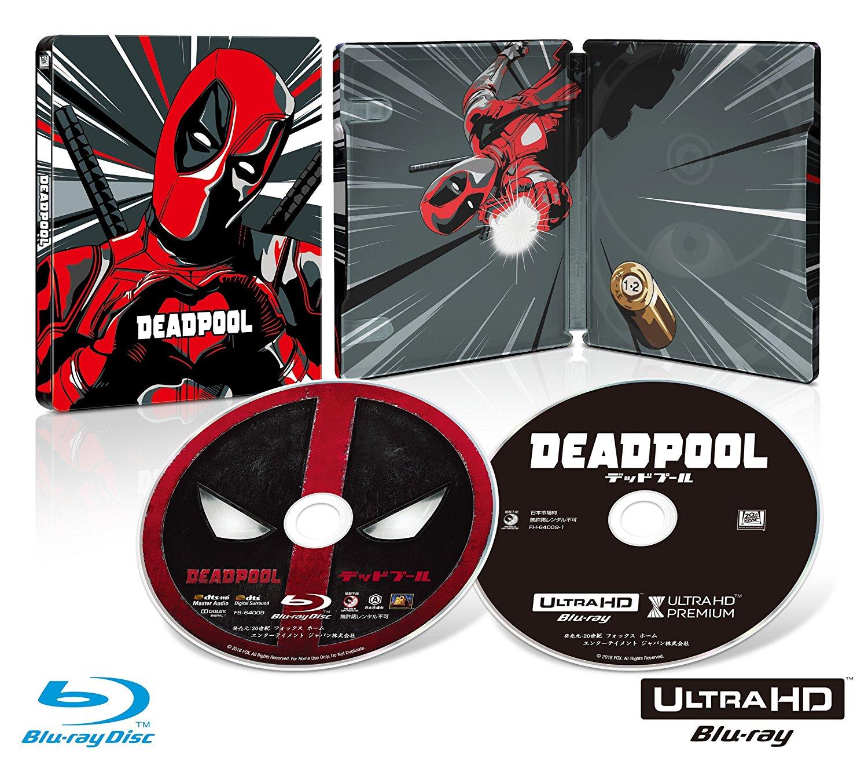 デッドプール 4K Ultra HD スチールブック Deadpool steelbook
