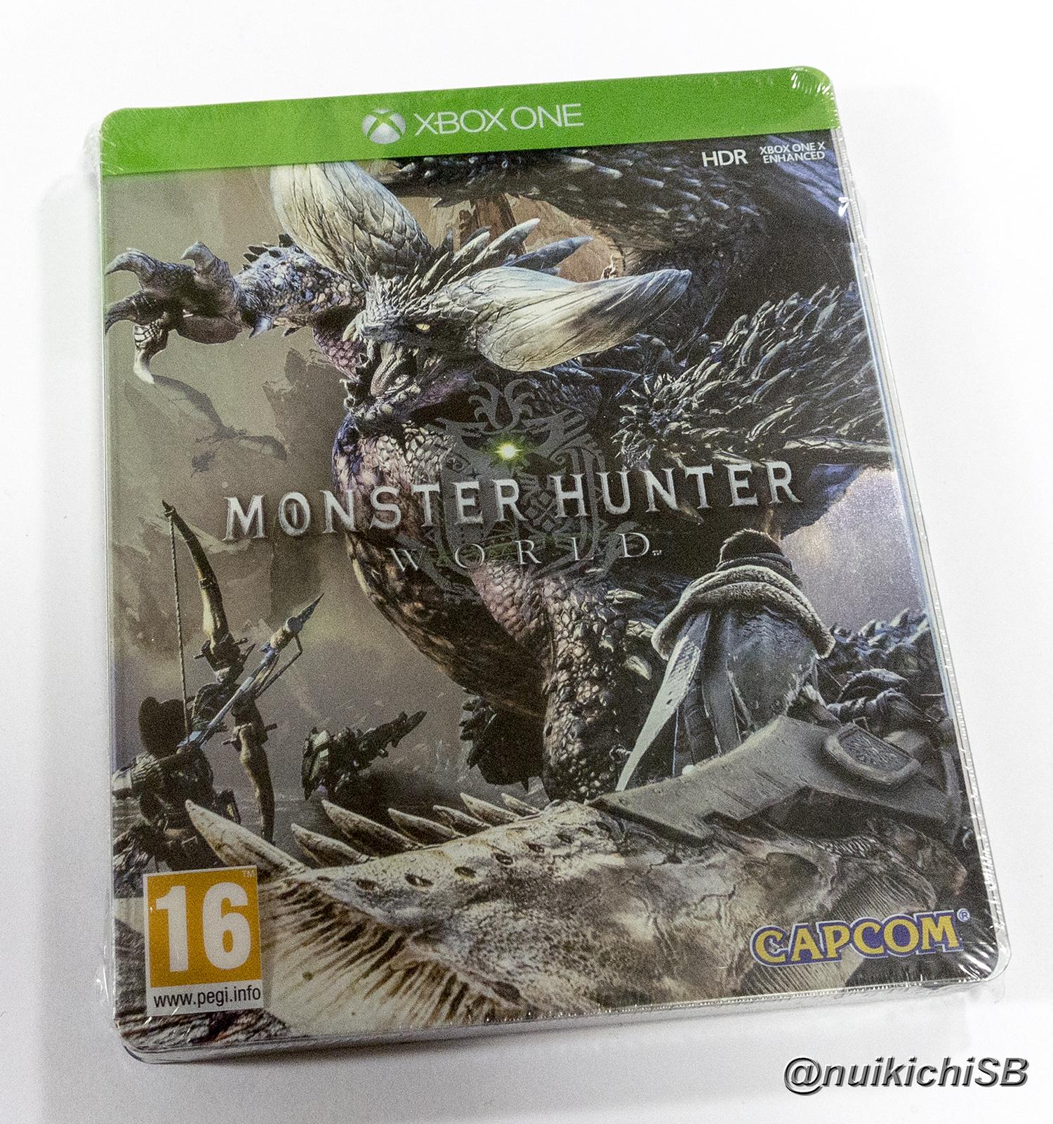 Monster Hunter World steelbook モンスターハンター:ワールド スチールブック
