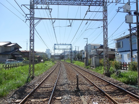 小田急江ノ島線の中央林間2号踏切@大和市e