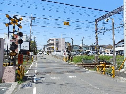小田急江ノ島線の大和4号踏切@大和市a