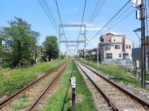 小田急江ノ島線の大和5号踏切@大和市d