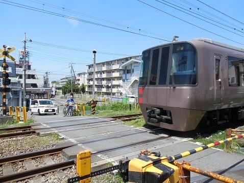 小田急江ノ島線の大和5号踏切@大和市g
