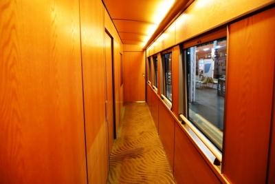通路も木目調・床は絨毯 E655系なごみ