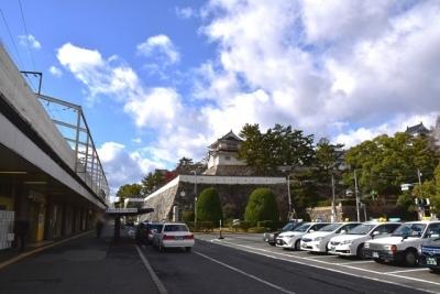 福山城と福山駅