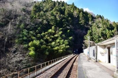 宇都井駅ホーム(2015年12月撮影)