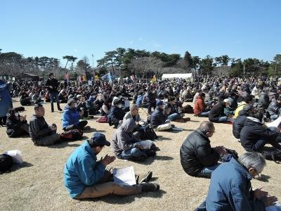 福島の原発反対集会<br /><br /><a href=