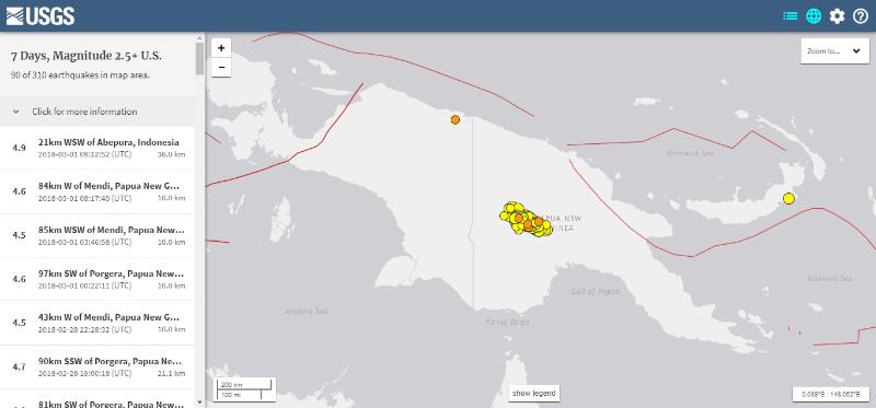 【地震】パプアニューギニアで発生した「M7.5」の地震で深刻な被害が広がる…現在も「M4~5クラス」の地震が相次ぐ