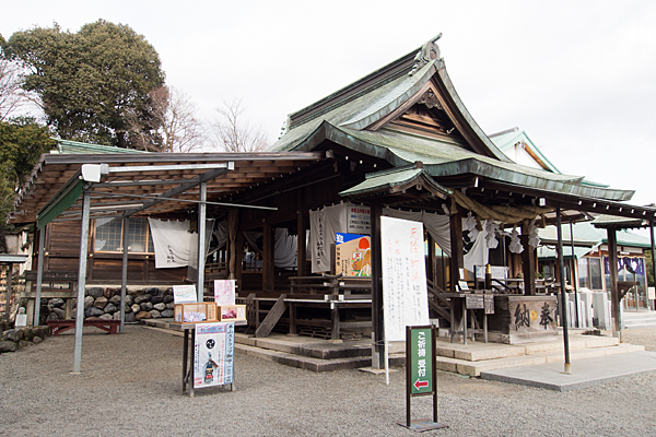 針綱神社拝殿