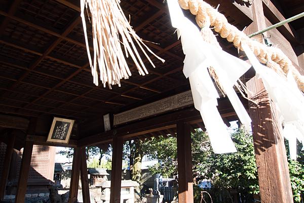 八幡社児子社拝殿注連縄と紙垂