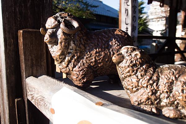 羊神社陶器の羊