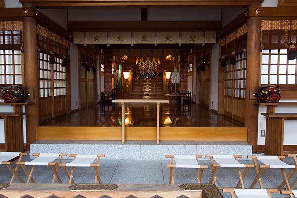 味鋺神社祭文殿内部