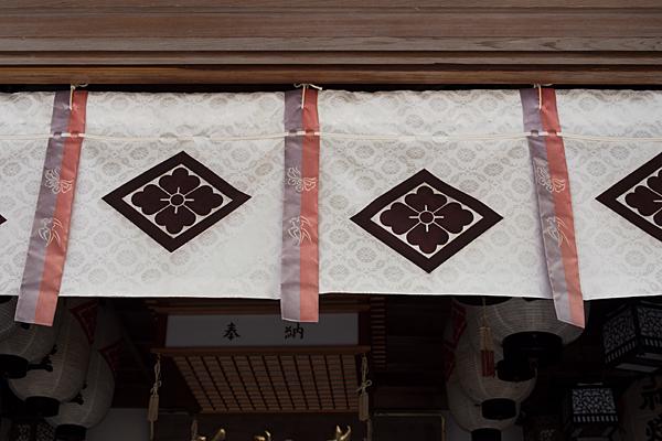 加佐登神社拝殿のれん