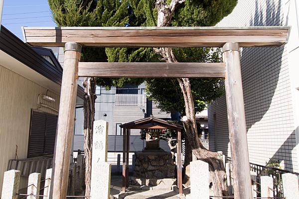 濱鶴ノ宮神社鳥居前