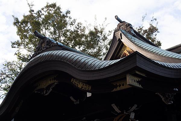 本土神社拝殿屋根