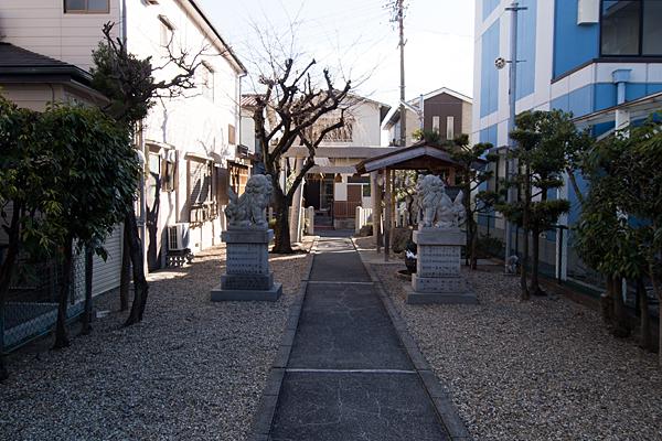天白神社本社から見る風景