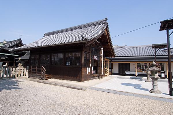 上小田井星神社拝殿と社務所